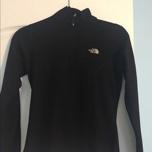 Women's North Face 1/4 zip black pullover